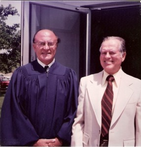 Rev. Rex Pedlow and Sam Privett 1982