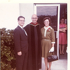 Rev. Robert Lowry with Curt and Emily Bliss in December 1970